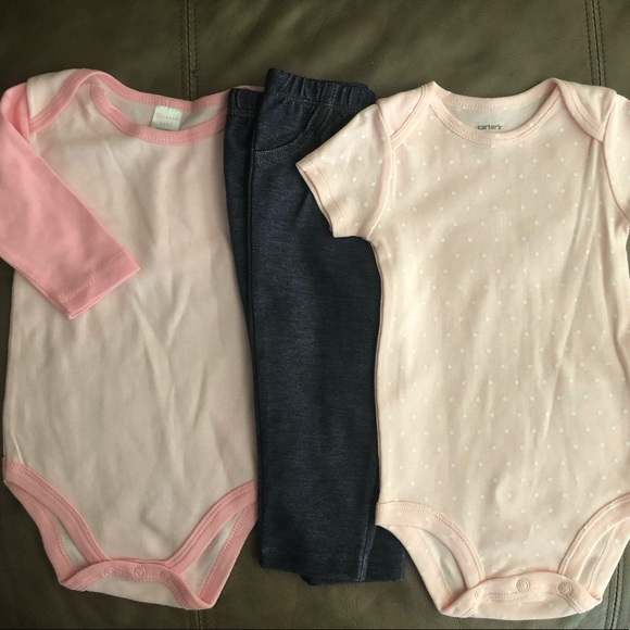 NWT Carters Girl Sleeveless Bodysuits 9mon